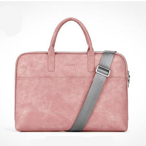 Waterproof Leather Laptop Case with Shoulder Strap - Online Tronic