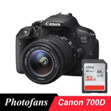 Canon 700D / Rebel T5i DSLR Digital Camera with 18-55mm Lens -18 MP  -Full HD 1080p Video -Vari-Angle Touchscreen (New) - Online Tronic