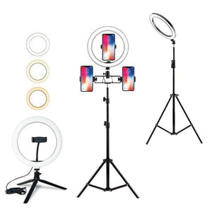 Selfie Ring Light with Tripod Stand & Cell Phone Holder - Online Tronic