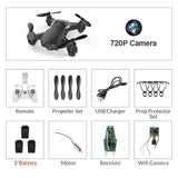Eachine E61/E61hw Mini Foldable Drone With/Without HD Camera - Online Tronic