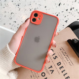 Hybrid Simple Matte Bumper Phone Case for iPhone (Multiple Options Available) - Online Tronic