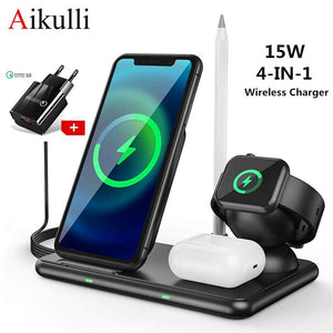 4 in 1 Wireless Charger - Online Tronic