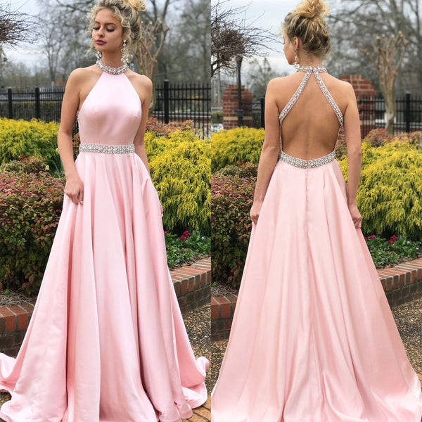 2019 European and American new foreign trade dress wish Amazon sleeveless open back dress