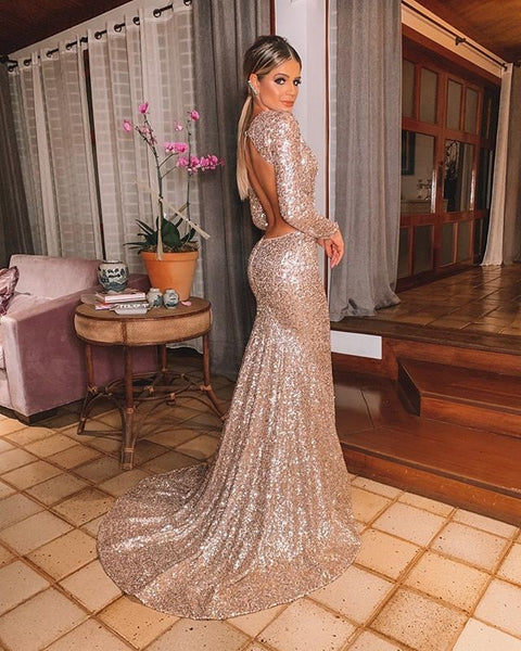 Wish Amazon sexy V-neck open back Sequin dress dress