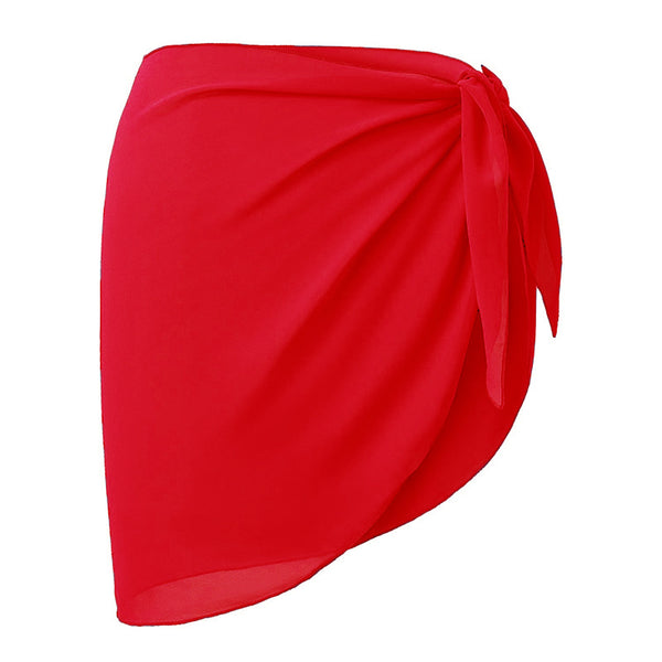 Sexy chest chiffon cover skirt beach skirt
