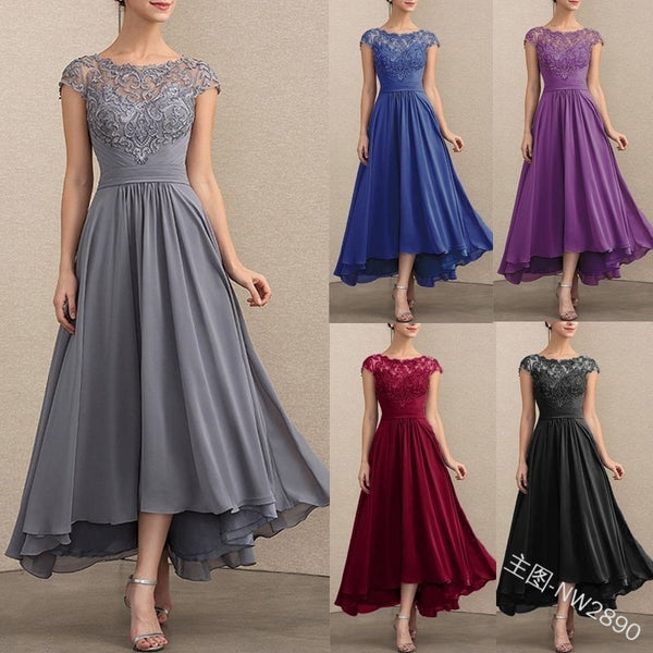 New wish cross border New Amazon Lace Chiffon Dress in autumn 2020