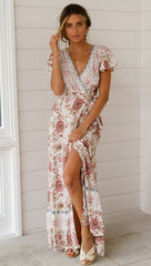Summer leisure hot sale holiday print dress sexy long skirt women's wear