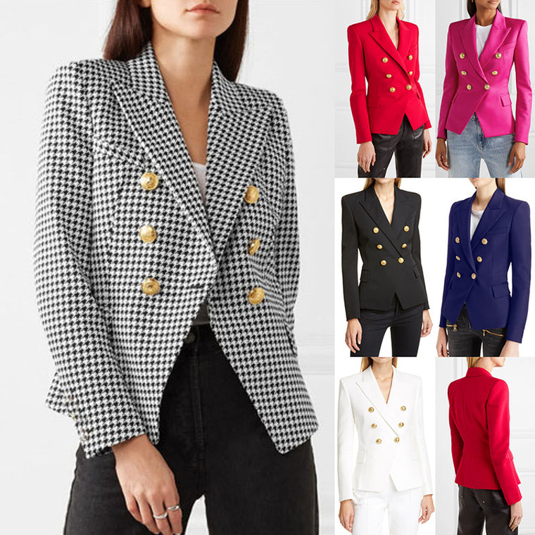 Blazer qianniaoge suit fashion short double breasted coat