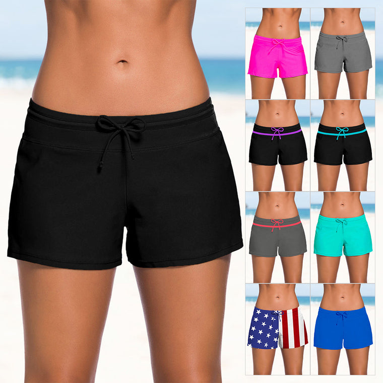 Summer new swimming trunks with ladies low waist sexy boxer shorts beach pants