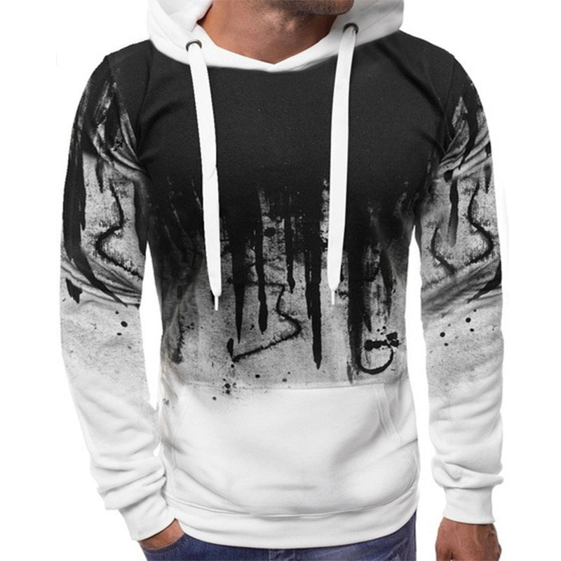 Burst top tide brand print splash ink hooded jacket now