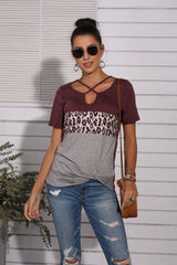 Cross border new leopard T-shirt for women in Europe and America