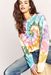 2020 spring and summer European and American new home casual wear long sleeve loose summer Amazon printing long sleeve home casual wear
