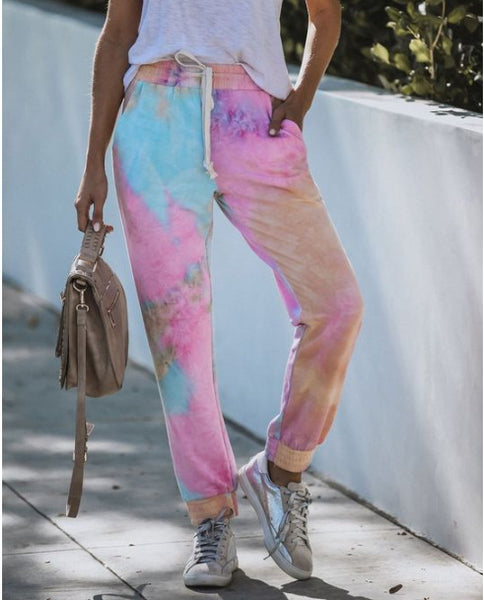 In the spring and summer of 2020, European and American new home casual wear sports trousers summer Amazon printed trousers for home leisure