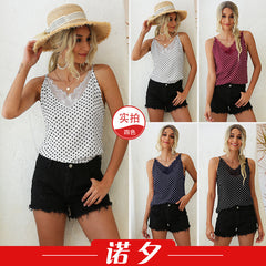 Wave V-neck lace sexy vest