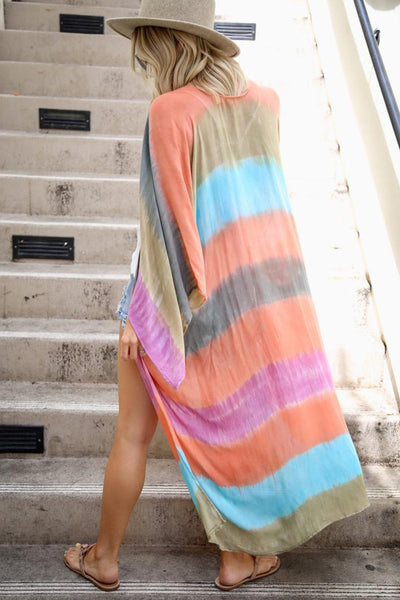 2020 spring and summer seaside holiday beach Tulle sunscreen skirt color block printed long sleeve loose cardigan sunscreen clothing