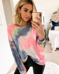 In spring and summer of 2020, European and American new home clothes casual sweater women's summer Amazon long sleeve printed home tops