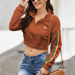 Color matching coat fleece pullover sweater top