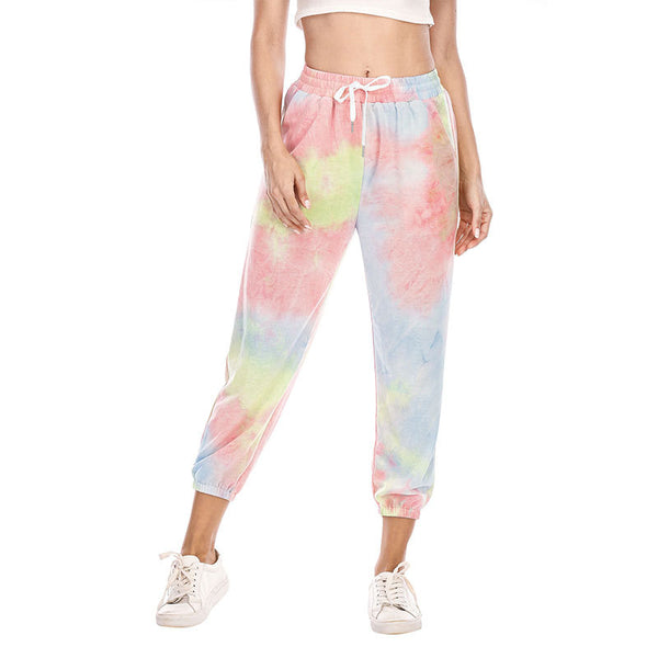 Tie dyed casual sweater and sports pants
