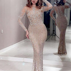 2020 New cross-border foreign trade women's independent station ebay sexy hot long-sleeved prom dress dress new