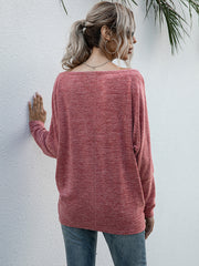 Long-sleeved bottomed T-shirt casual knit shirt top