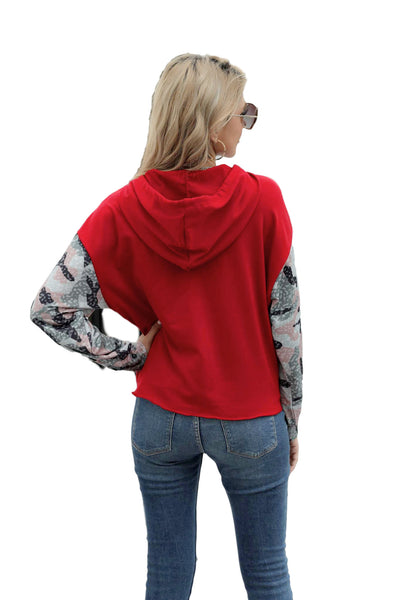 2020 autumn European and American pullover long-sleeved T-shirt Amazon wish hot-selling spliced long-sleeved loose slim sweater