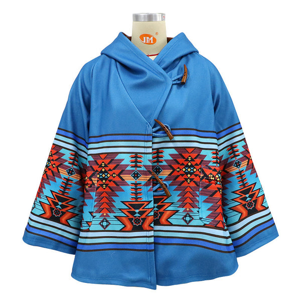 2020 Europe and the United States autumn and winter foreign trade women's ebay Amazon's new long-sleeved hooded jacket printed on the coat