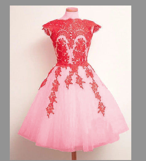 eBay express sales of European and American foreign trade summer skirt new mid-waist trim lace dress a large number of spot
