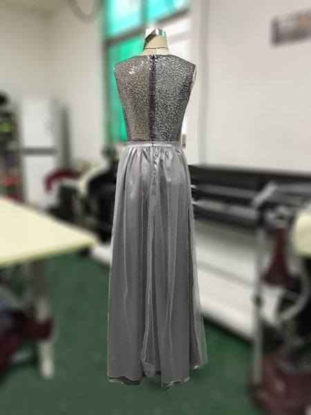New foreign trade women's wear in Europe and America in spring of 2018: popular Chiffon sleeveless Sequin dress on eBay and Amazon