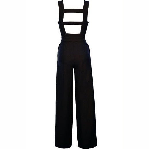 2018 Europe and the United States spring and summer new foreign trade women's ebay Amazon sexy deep V backless sleeveless jumpsuit
