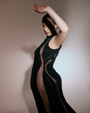 Refracted Knit Dress