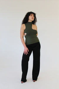 Signature Olive Knit Top