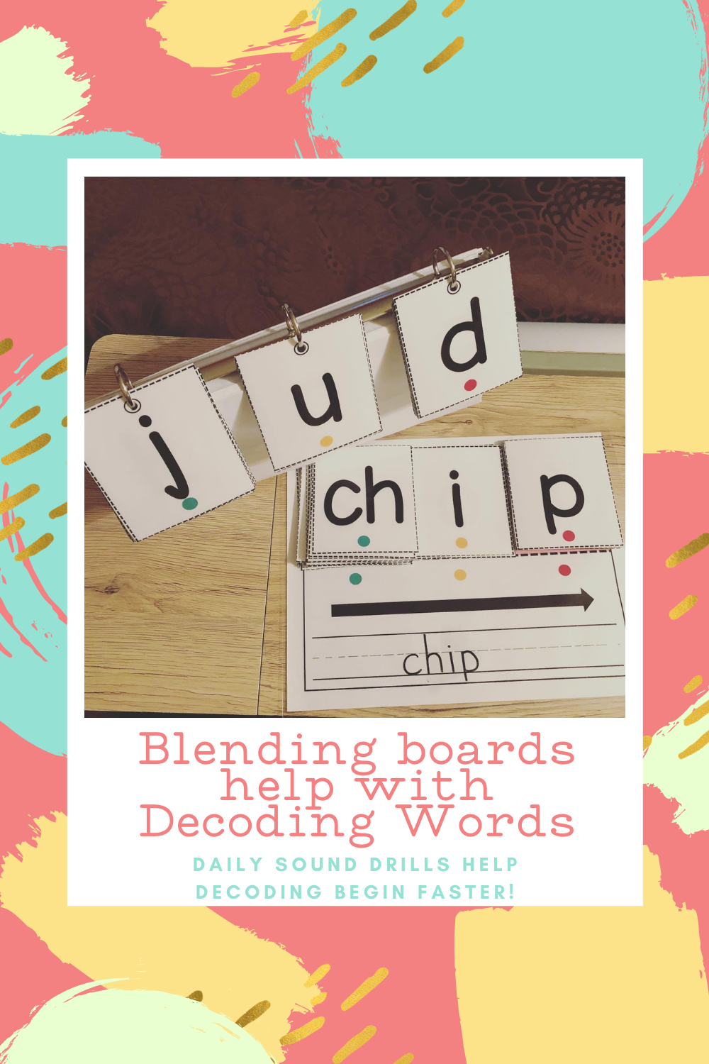 Blending boards help decoding and fluency