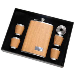 Light Grain 5 Piece Tall Flask Set - Nicole Brayden Gifts