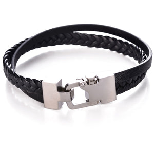 Carabiner Lock Leather Bracelet
