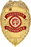 Volunteer Firefighter Badge - Gold