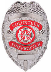 Volunteer Firefighter Badge - Silver