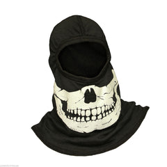 NFPA PAC F20 Black Ultra C6 Flash Hood with GLOW in the Dark Green Skull