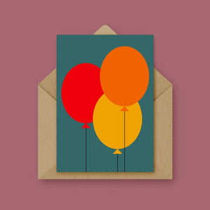 Balloon Card - Teal