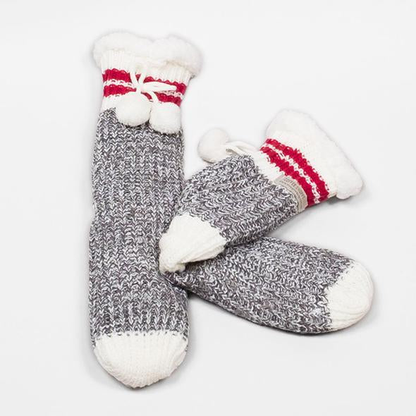 Canadiana Slipper Sock - Smoke Pearl