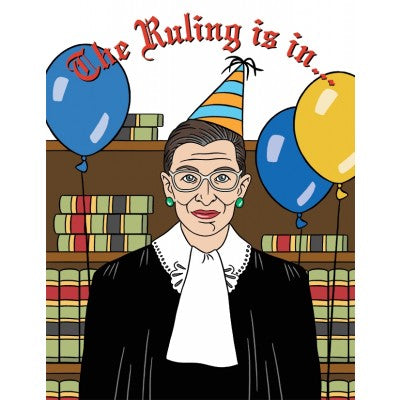 The Ruling is in  - Greeting Card