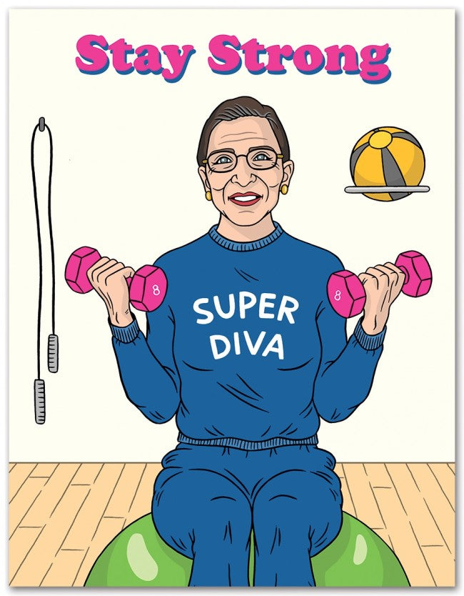 Stay Strong Super Diva  - Greeting Card