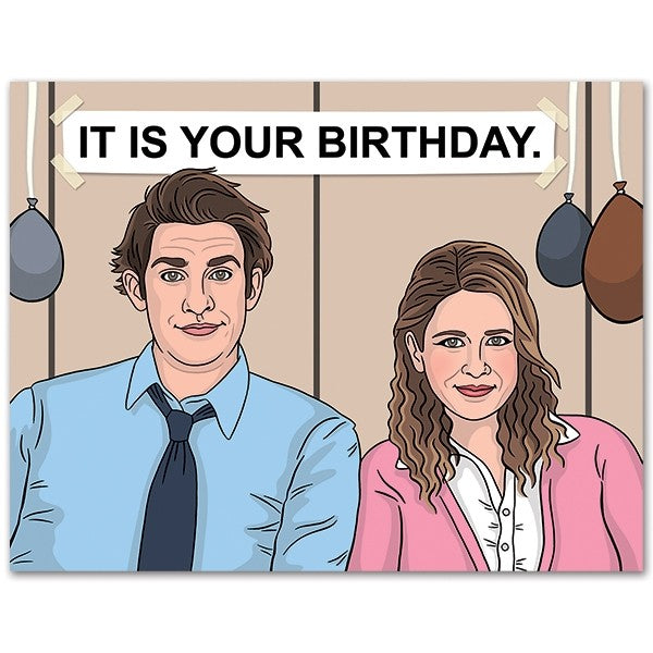 Jim & Pam Birthday  - Greeting Card