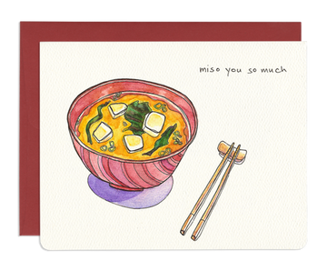 Miso You So Much - Greeting Card