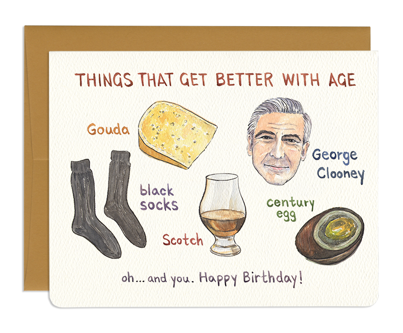 Better with Age - Greeting Card