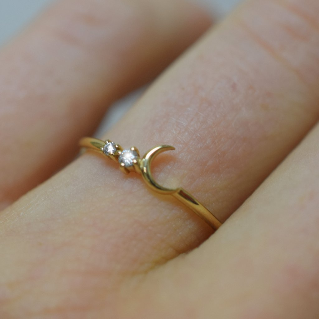 14K Fly Me To The Moon Diamond Ring | LA KAISER | JV Studios Boutique