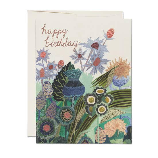 Birthday Thistle - Greeting Card