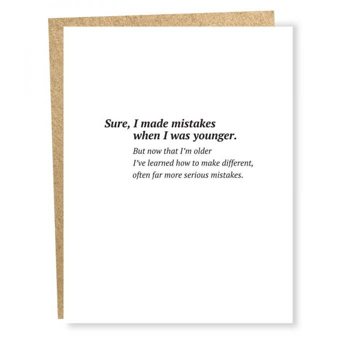 Serious Mistakes - Greeting Card