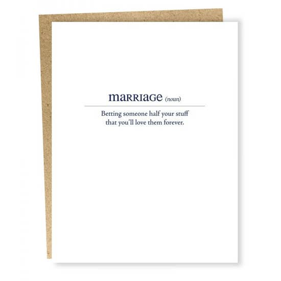 Marriage Definition - Greeting Card