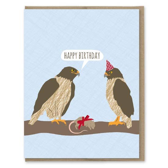 Birthday Hawks - Greeting Card