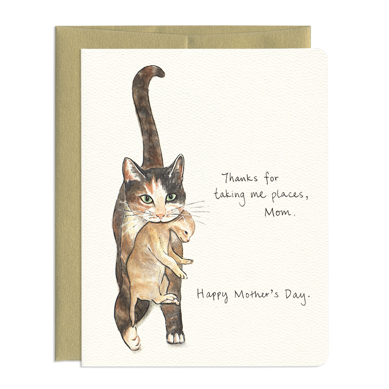 Cat Mom - Greeting Card